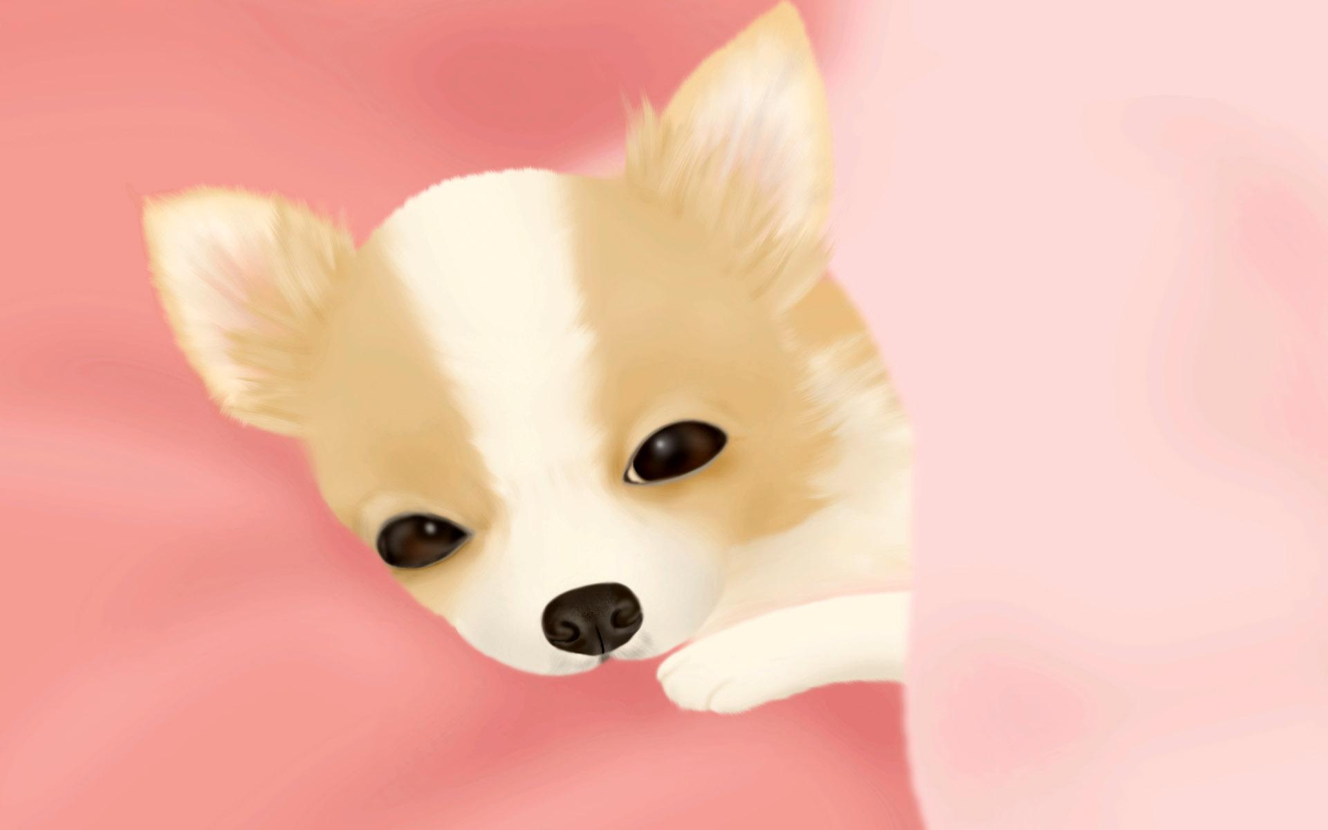宽屏卡通狗-插图艺术(1920x1200)