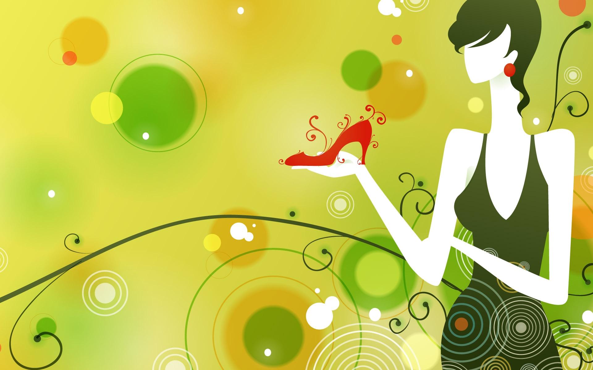 矢量设计-时尚女性(1920x1200)壁纸 - 桌面壁纸【壁纸