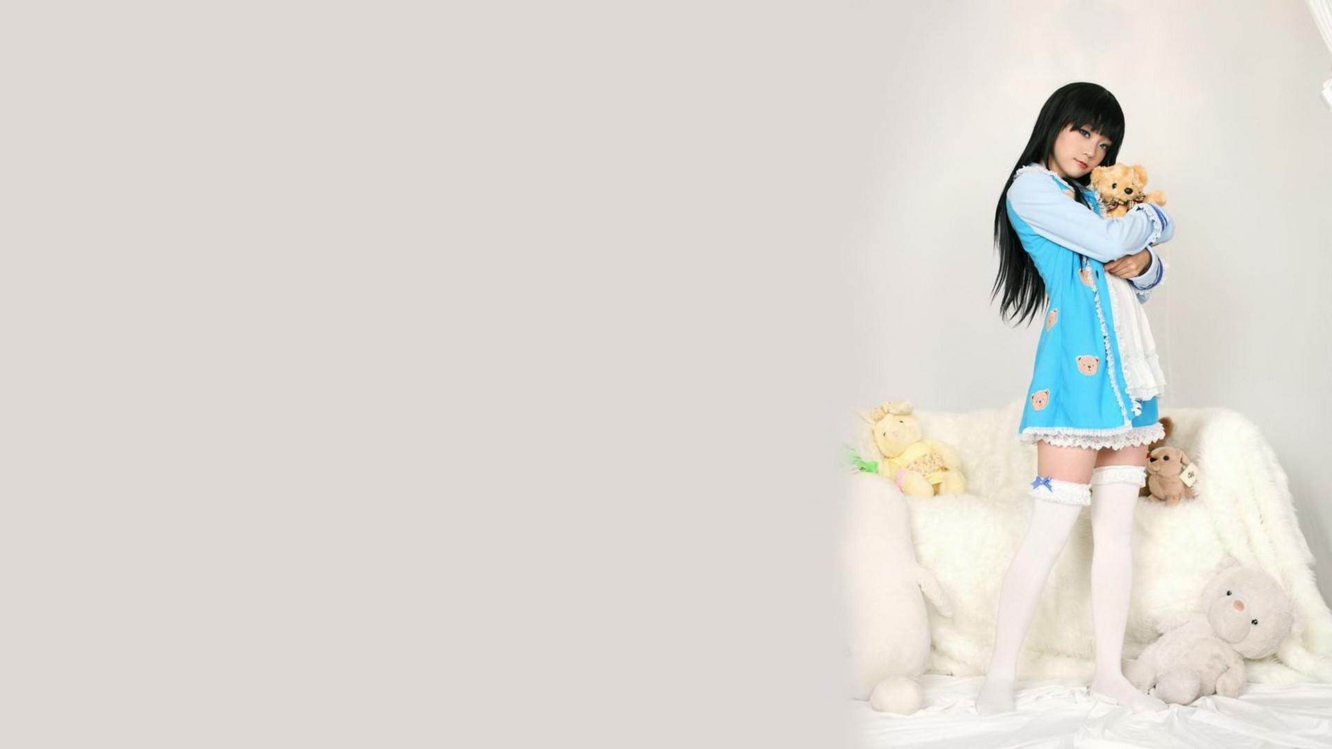 卡通-可爱小女生(1920x1080)壁纸