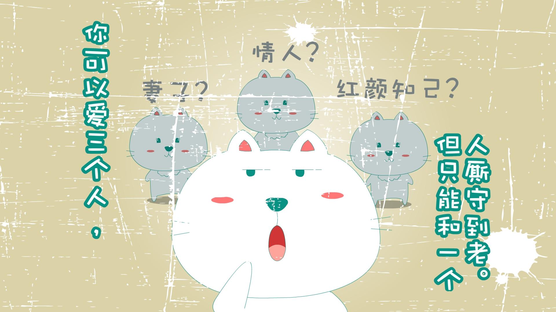 笨笨猫可爱壁纸 笨笨猫 14 1366x768图片