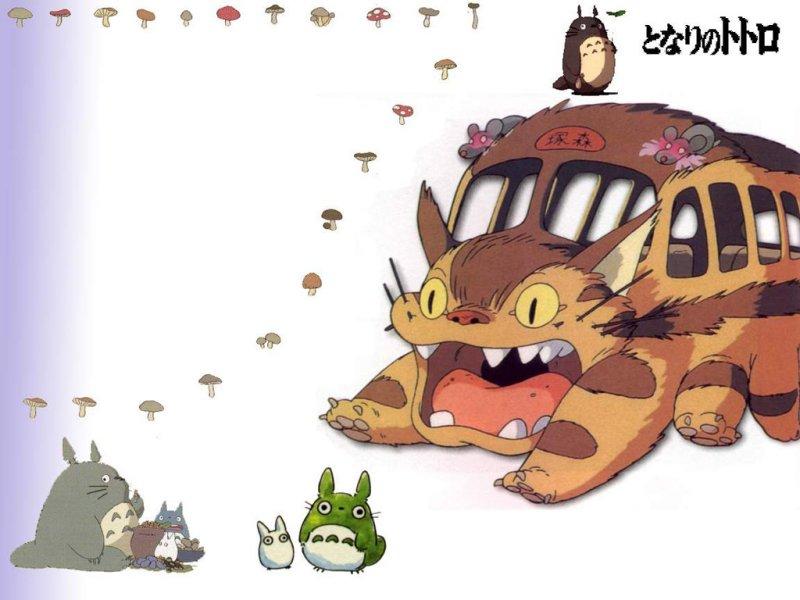 可爱龙猫背景图片