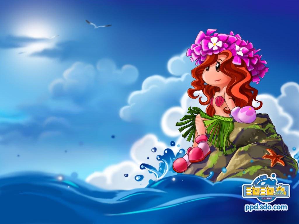 普通屏动漫《泡泡岛》 壁纸
