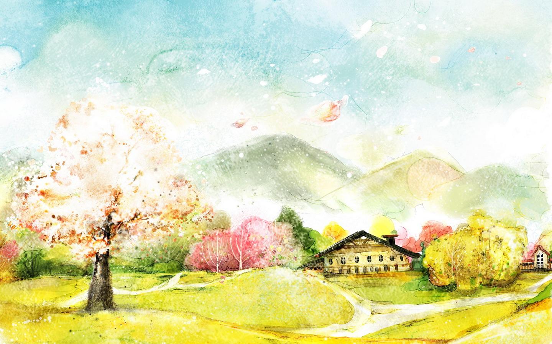 1440x900 梦幻卡通高清壁纸高清图片