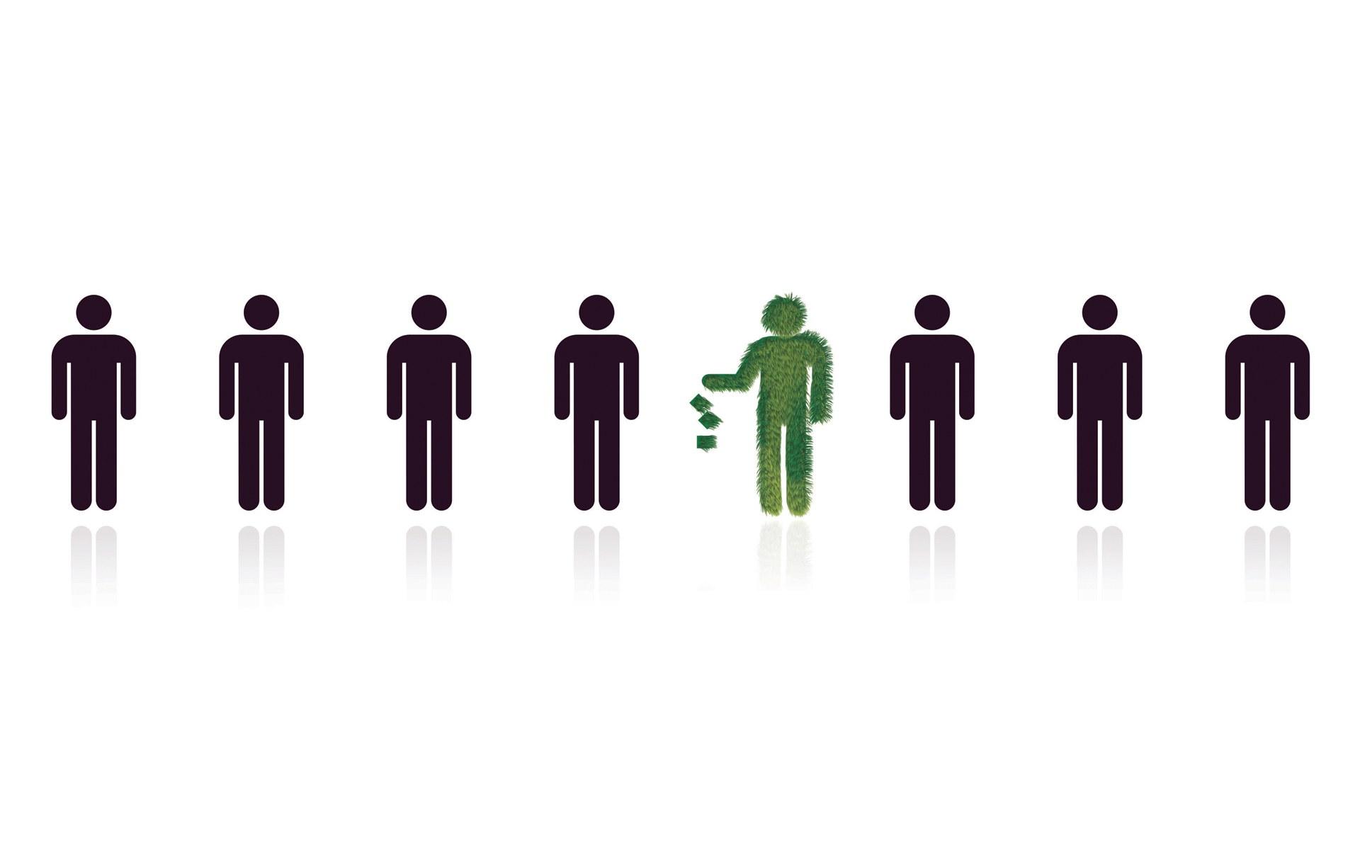 绿色安全环保标志(1920x1200)壁纸