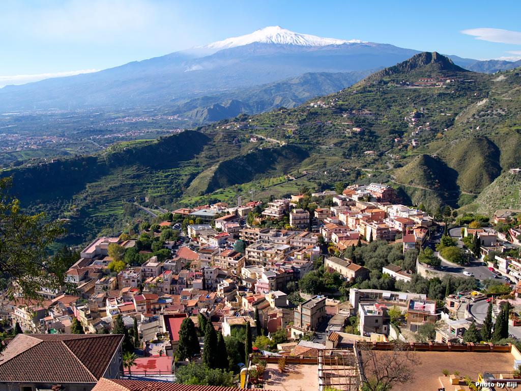 美丽的意大利西西里岛