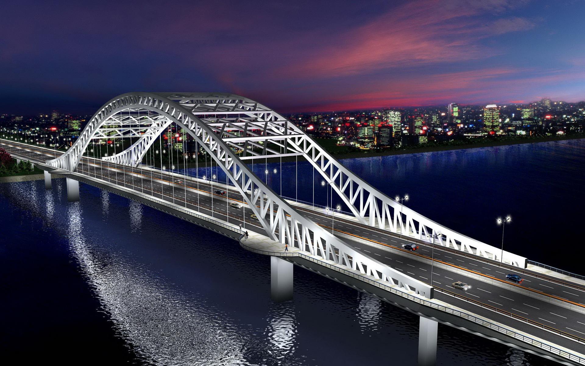 城市桥梁景观设计图 高清图片