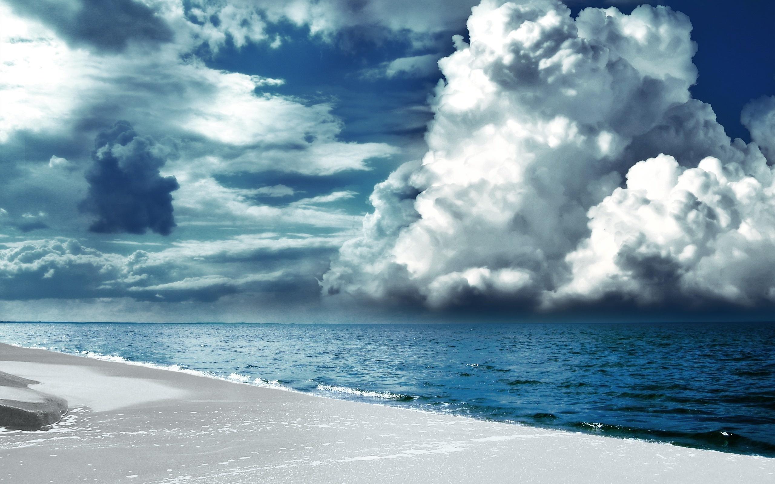 宽屏海滩海岸风景线03(2560x1600)壁纸 - 桌面壁纸