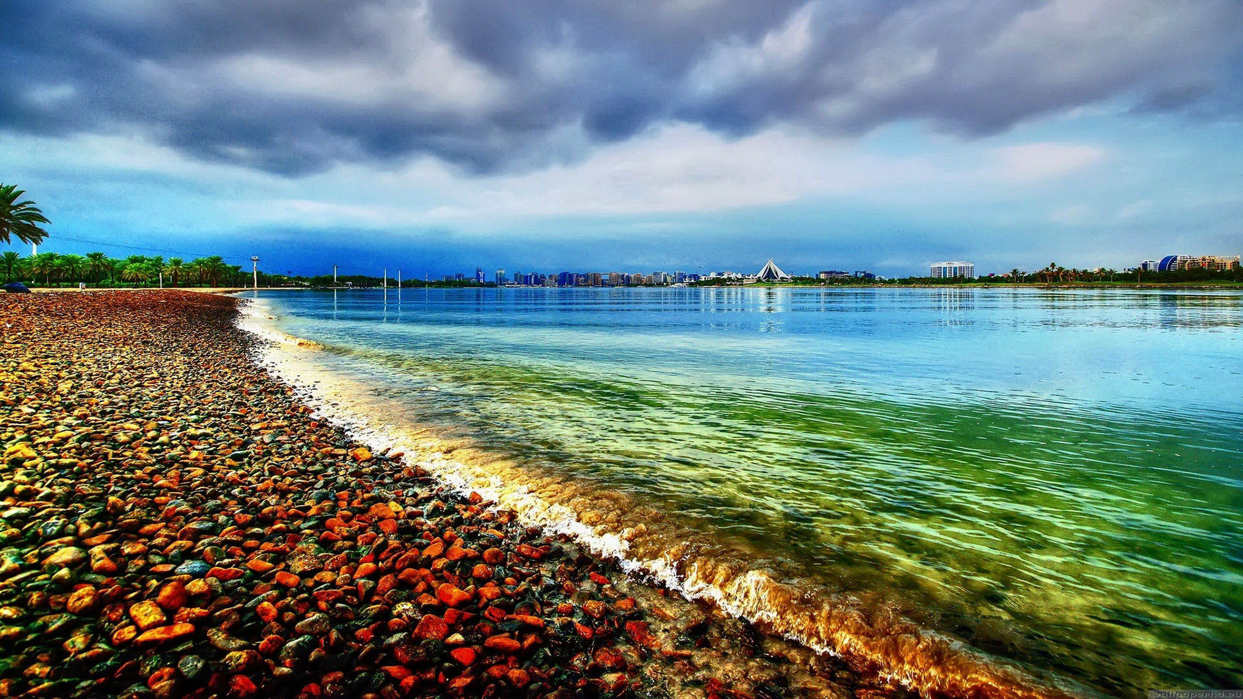 夏日海滩清爽风景桌面02(2560x1440)壁纸 - 桌面壁纸