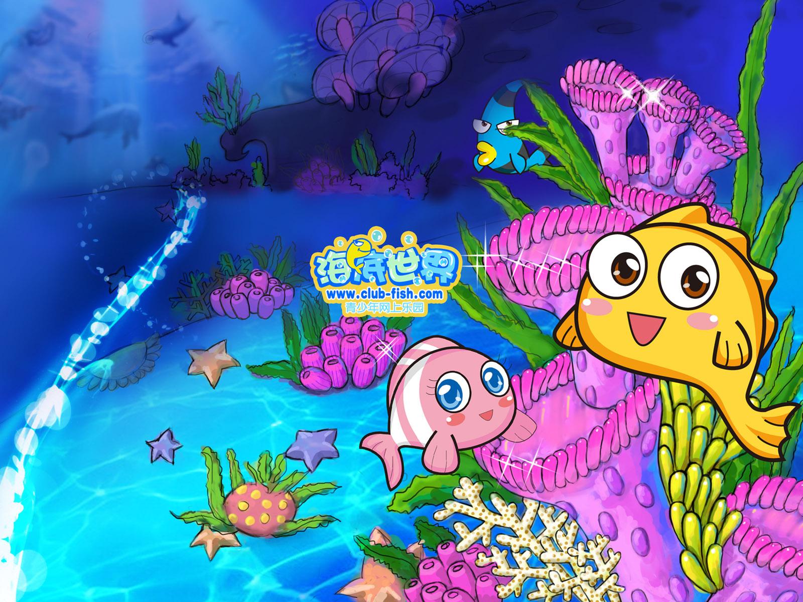 海底世界; 彩色海底世界简笔画